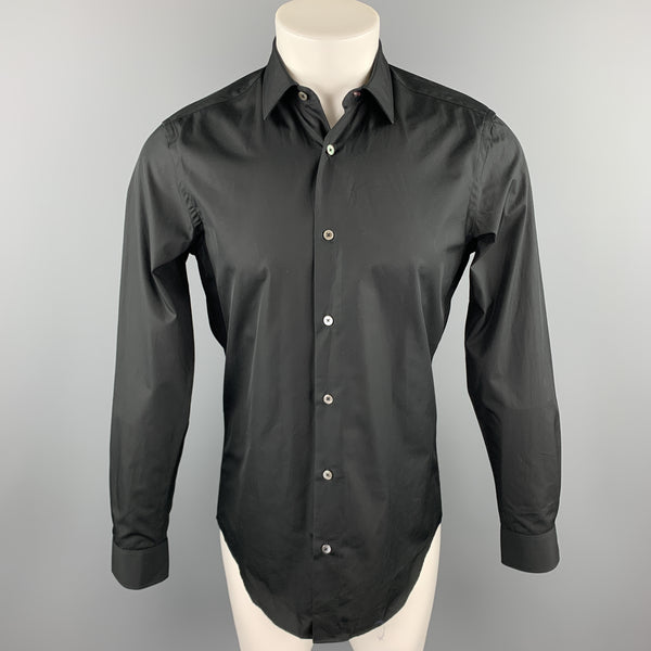 PAUL SMITH Size S Black Cotton Button Up Long Sleeve Shirt