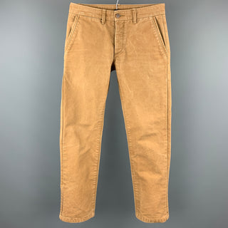 GROWN&SEWN Size 31 Tan Canvas Button Fly Casual Pants
