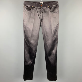 PAUL SMITH Size M Black Cotton / Acrylic Zip Fly Casual Pants