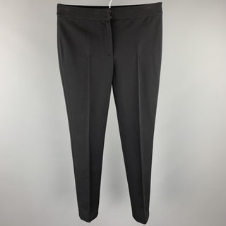 AKRIS Size 4 Black Viscose Blend Dress Pants