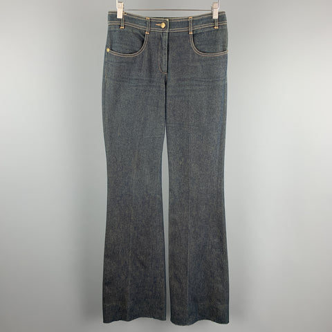 CHLOE Size 8 Diry Wash Bell Bottom Jeans
