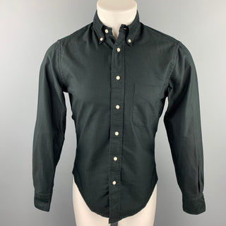 GITMAN VINTAGE Size S Black Cotton Button Down Long Sleeve Shirt