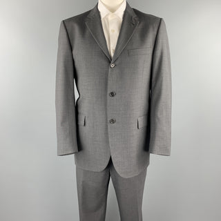 BURBERRY LONDON Size 42 Regular Dark Gray Wool Notch Lapel Suit