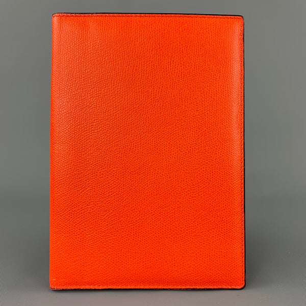 VALEXTRA Orange Pebble Grain Leather iPad Case
