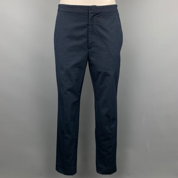 MARC JACOBS Size 0 Navy Cotton Chino Casual Pants