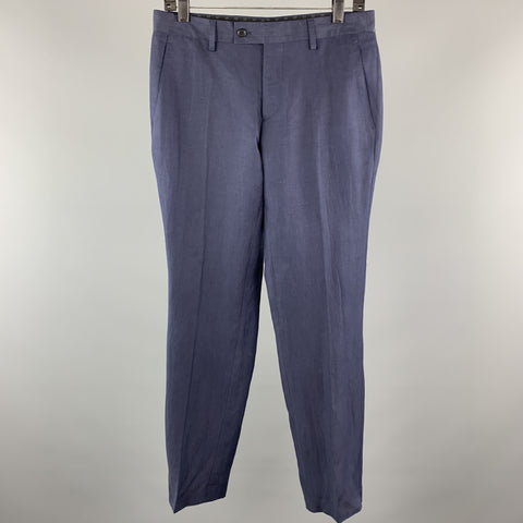JOHN VARVATOS Size 30 x 30 Navy Cotton Tab Waist Casual Pants