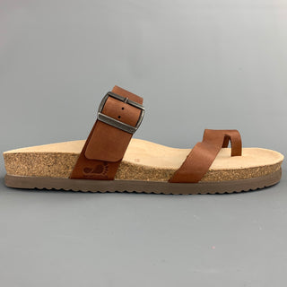 NATURE IS FUTURE Size 10 Brown Leather Straps Sandals