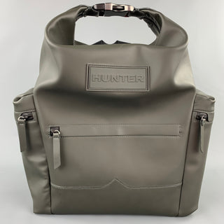 HUNTER Olive Leather Coated Leather Backpack