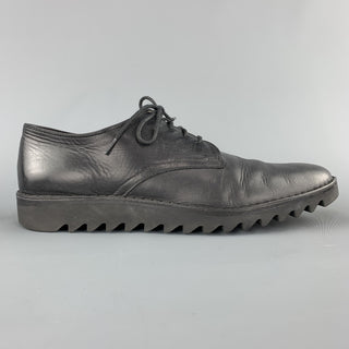 YOU MUST CREATE YMC Size 9 Black Leather Track Sole Lace Up