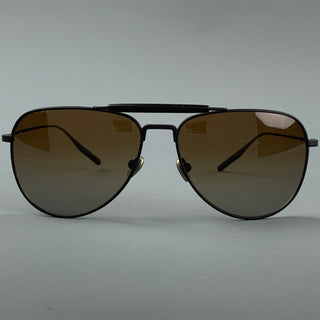 SALT Black Titanium Aviator Sunglasses