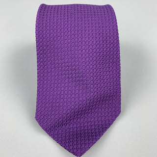 DRAKES LONDON Purple Woven Silk Neck Tie