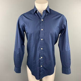 RALPH LAUREN Size S Navy Cotton Button Up Long Sleeve Shirt