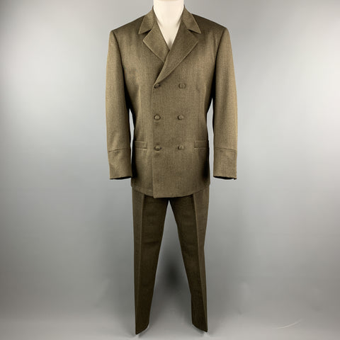 NEW REPUBLIC 42 Regular Olive Wool Suit