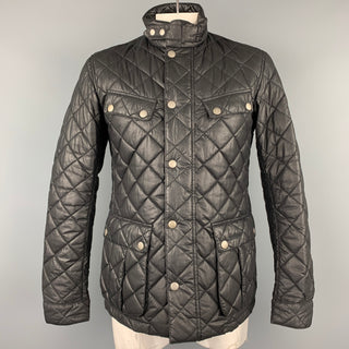 BARBOUR x Steve McQueen Collection Size L Black Quilted Polyester Zip & Snaps Jacket