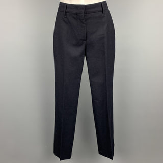 PRADA Size 2 Navy Virgin Wool Dress Pants