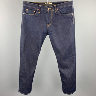 SPURR Size 34 Indigo Contrast Stitch Selvedge Denim Zip Fly Jeans