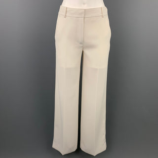 ALEXANDER WANG Size 0 Off White Crepe Wide Leg Dress Pants