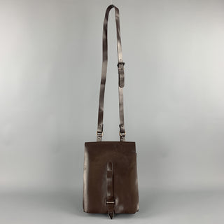 IT TIERRE Dark Brown Vinyl Crossbody Bag