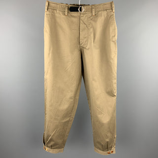 PAUL SMITH Size 32 Olive Cotton Zip Fly Belted Casual Pants