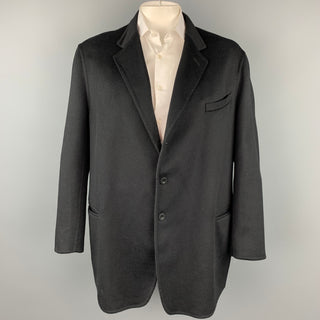 ARMANI COLLEZIONI Size 50 Black Cashmere Notch Lapel Sport Coat