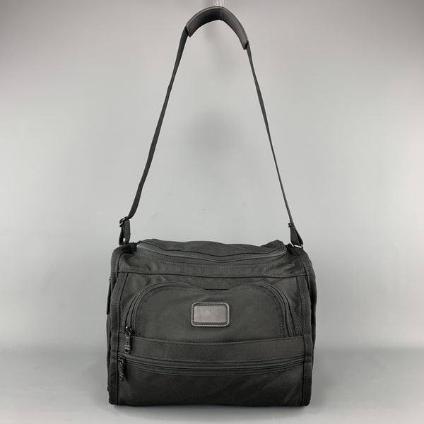TUMI Black Nylon Canvas Messenger Bag