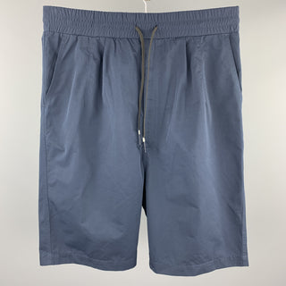 BRANDBKLACK Size M Navy Drop Crotch Drawstring Shorts