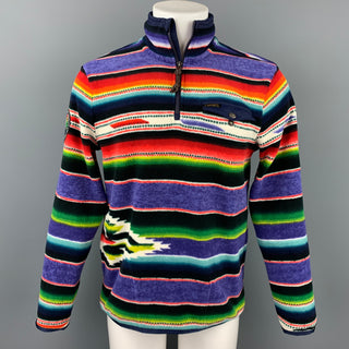 RALPH LAUREN Sportsman Respect Size S Multi-Color Serape Polyester Half Zip Pullover Sweater