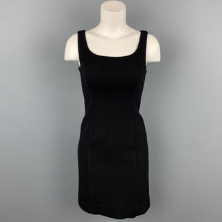 ARMANI COLLEZIONI Size 2 Black Crepe Shift Dress