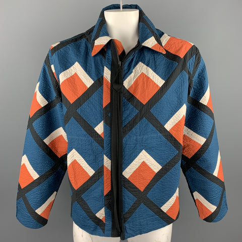 CRAIG GREEN Size L Multi-Color Quilted Cotton Zip Up Jacket