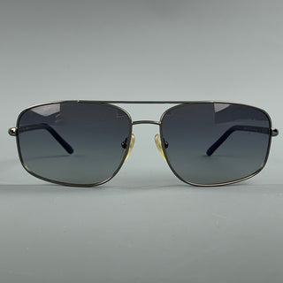 PRADA Gunmetal Tinted Blue Trim Sunglasses