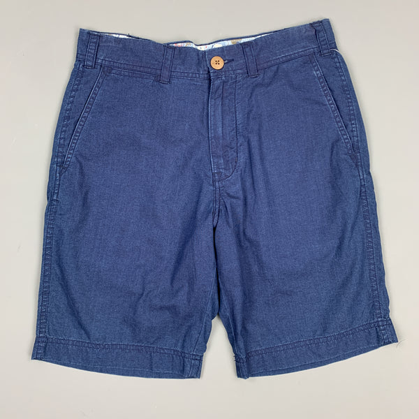 ALEX MILL Size 28 Indigo Cotton Zip Fly Officer Shorts