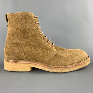 RAG & BONE Size 10 Tan Textured Military Lace Up Boots