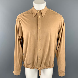 ELENA VAN DER VEER Size M Tan Poliammide Button Up Drawstring Sweater