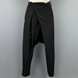 NOIR KEI NINOMIYA for COMME des GARCONS Size S Black Wool Dress Pants