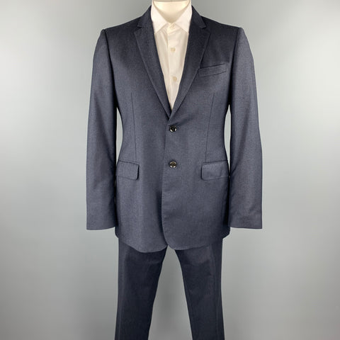 BURBERRY LONDON Size 42 Regular Navy Wool Notch Lapel Suit