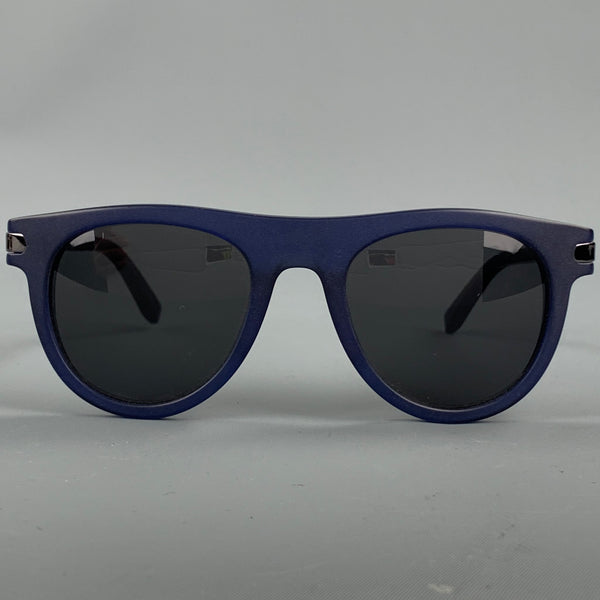 SALVATORE FERRAGAMO Navy Acetate Sunglasses