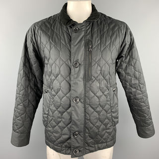 WHITE MOUNTAINEERING Size L Black Quilted Polyester Buttoned Jacket
