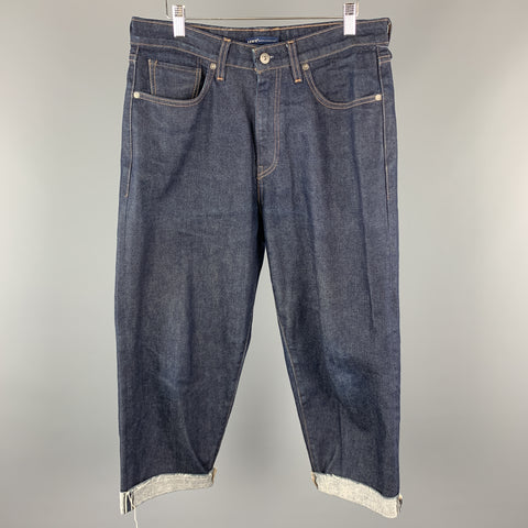 LEVI'S MADE & CRAFTED Size 32 x 23 Washed Indigo Selvedge Denim Zip Fly Jeans