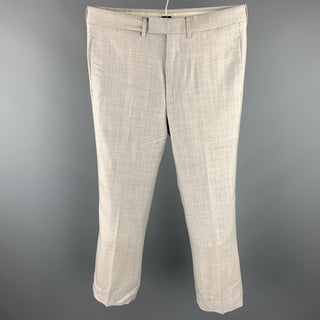 GUCCI Size 30 Light Grey Heather Wool Blend Zip Fly Dress Pants