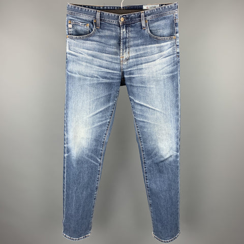 ADRIANO GOLDSCHMIED The Matchbox Size 36 Indigo Washed Cotton / Polyurethane Zip Fly Jeans