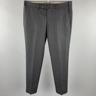 ERMENEGILDO ZEGNA Size 36 Charcoal Wool Zip Fly Dress Pants