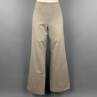RALPH LAUREN Collection Size 4 Grey Heather Wool Wide Leg Dress Pants