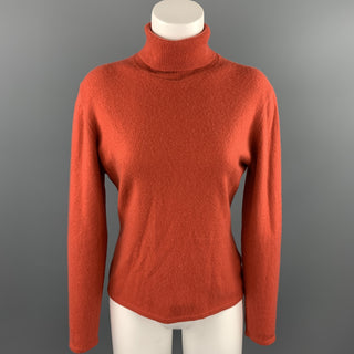 TSE Size L Coral Knitted Cashmere Turtleneck Sweater
