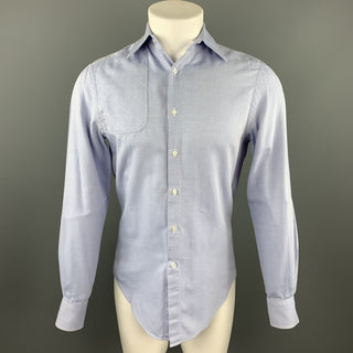 MICHAEL BASTIAN Size S Light Blue Cotton Button Up Long Sleeve Shirt
