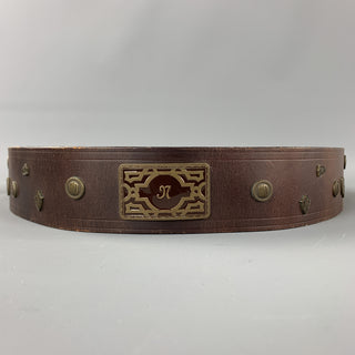 Vintage MATSUDA Monsieur Nicole Brown Leather Belt