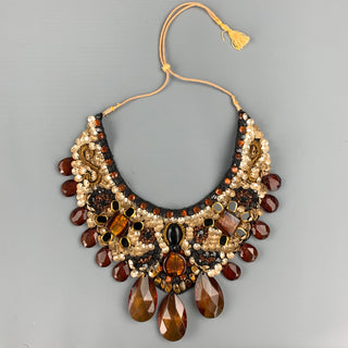ROBERTA FREYMANN Black & Beige Embellished Necklace