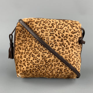 BOTTEGA VENETA Leopard Pony Hair Mini Cross Body Handbag