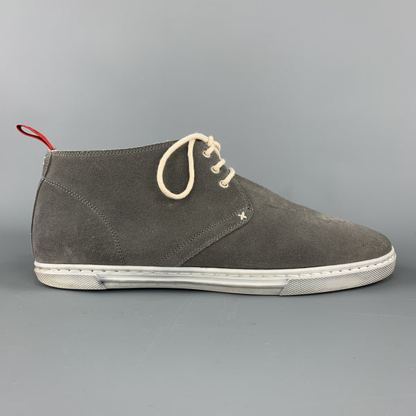 KITON Size 8 Gray Suede Chukka Boot Sneakers
