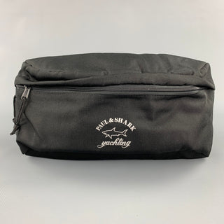 PAUL & SHARK Black Logo Polyester Fanny Pack