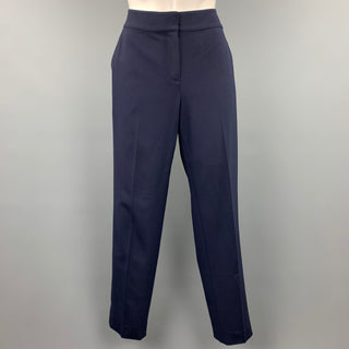 ST. JOHN Caviar Size 4 Navy Wool Blend Emma Dress Pants